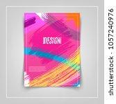 artistic colorful brushstrokes... | Shutterstock .eps vector #1057240976