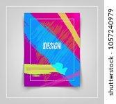 colorful brushstrokes cover... | Shutterstock .eps vector #1057240979