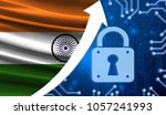 the flag of india together with ... | Shutterstock . vector #1057241993