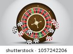 roulette table paintings | Shutterstock .eps vector #1057242206