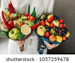 edible arrangements  edible... | Shutterstock . vector #1057259678