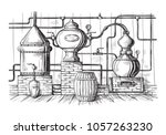 alembic still for making... | Shutterstock .eps vector #1057263230