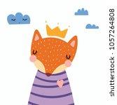 hand drawn vector illustration... | Shutterstock .eps vector #1057264808