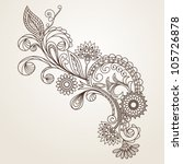 floral pattern hand drawing... | Shutterstock .eps vector #105726878