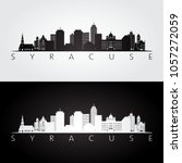 syracuse usa skyline and... | Shutterstock .eps vector #1057272059