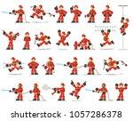 large set of firefighter... | Shutterstock .eps vector #1057286378