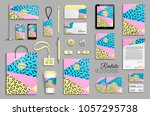 corporate identity template set.... | Shutterstock .eps vector #1057295738