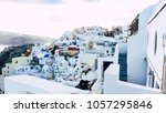 oia  santorini  greece  ... | Shutterstock . vector #1057295846
