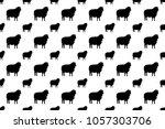 sheep icon vector seamless... | Shutterstock .eps vector #1057303706