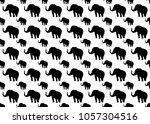 elephant icon vector seamless... | Shutterstock .eps vector #1057304516