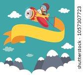 vector illustration of kid... | Shutterstock .eps vector #1057307723