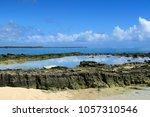 ocean bay shallow water close... | Shutterstock . vector #1057310546