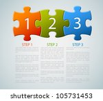 one two three   vector progress ... | Shutterstock .eps vector #105731453