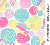 seamless pattern with circles ... | Shutterstock .eps vector #1057316624