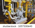 diaphragm pump install on oil... | Shutterstock . vector #1057330640