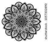 mandalas for coloring book.... | Shutterstock .eps vector #1057332890