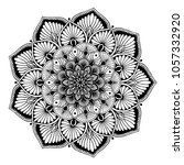 mandalas for coloring book.... | Shutterstock .eps vector #1057332920