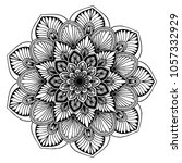 mandalas for coloring book.... | Shutterstock .eps vector #1057332929