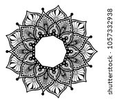 mandalas for coloring book.... | Shutterstock .eps vector #1057332938