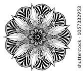 mandalas for coloring book.... | Shutterstock .eps vector #1057332953