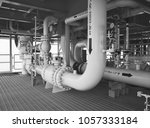 pipeline production and control ... | Shutterstock . vector #1057333184