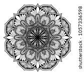 mandalas for coloring book.... | Shutterstock .eps vector #1057336598