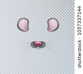 vector realistic animal mouse... | Shutterstock .eps vector #1057337144