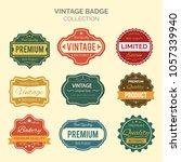 vector set vintage badges... | Shutterstock .eps vector #1057339940