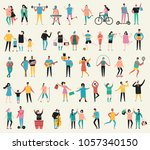 vector illustration in flat... | Shutterstock .eps vector #1057340150