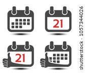 vector calendar isolated web... | Shutterstock .eps vector #1057344026