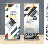 business roll up design... | Shutterstock .eps vector #1057349573