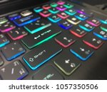 colorful keyboard close. | Shutterstock . vector #1057350506