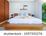 luxury interior design in... | Shutterstock . vector #1057352276