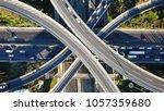 aerial drone bird's eye view... | Shutterstock . vector #1057359680