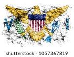 virgin islands smoke flag ... | Shutterstock . vector #1057367819