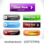 set of color buttons. vector...
