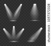 set of various vector spotlight ...   Shutterstock .eps vector #1057372328