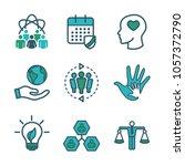 social responsibility outline... | Shutterstock .eps vector #1057372790