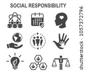 social responsibility solid... | Shutterstock .eps vector #1057372796