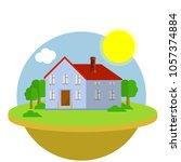 cartoon flat illustration  ... | Shutterstock .eps vector #1057374884