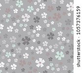 vector seamless pattern with... | Shutterstock .eps vector #1057376159