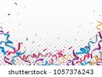 celebration with colorful... | Shutterstock .eps vector #1057376243