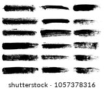 painted grunge stripes set.... | Shutterstock .eps vector #1057378316