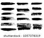 painted grunge stripes set.... | Shutterstock .eps vector #1057378319