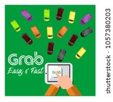 grab   fast  easy and... | Shutterstock .eps vector #1057380203