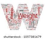 conceptual weight loss healthy... | Shutterstock . vector #1057381679