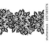 seamless monochrome pattern of...   Shutterstock .eps vector #1057385576