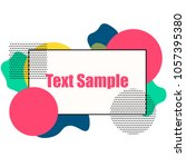 border frame for your text with ... | Shutterstock .eps vector #1057395380