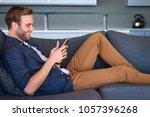 profile image of handsome man... | Shutterstock . vector #1057396268