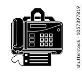 fax icon   print symbol | Shutterstock .eps vector #1057397819
